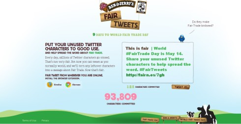 Ben & Jerry's Fair Tweets Campaign